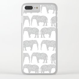 Alabama bama crimson tide elephant state college university pattern footabll Clear iPhone Case
