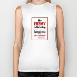 The Enemy Is Listening -- World War 2 Biker Tank