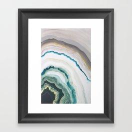 Green Agate #1 Framed Art Print