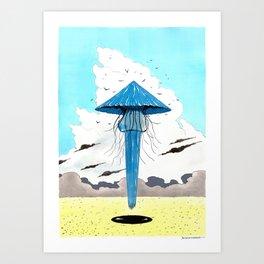 Méduse volante #3 Art Print