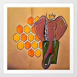 King Elephant Art Print