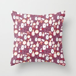 Alice in Wonderland - Purple Madness Throw Pillow