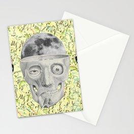poor skeleton steps out Stationery Cards