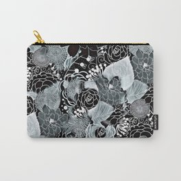 Floral Abstract Design Carry-All Pouch