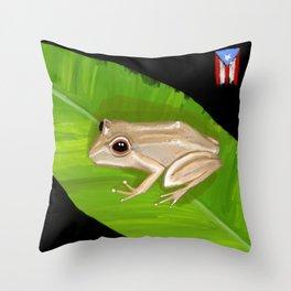 El Coqui Throw Pillow