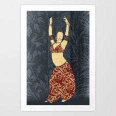 Belly dancer 17 Art Print