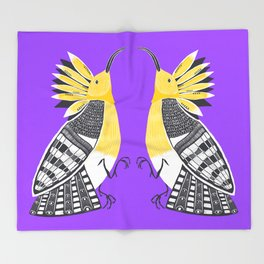 The Hoopoe Throw Blanket