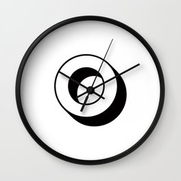 Letter O ... As Easy As ... Wall Clock