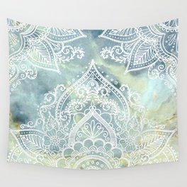 MANDALA ON MARBLE Wall Tapestry