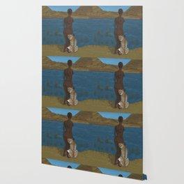 Woman & Cheetah Wallpaper
