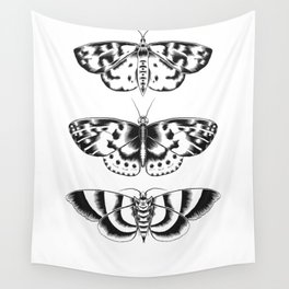 Moth Tryptic Wall Tapestry