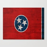 tennessee Canvas Prints featuring Tennessee by C Liza B