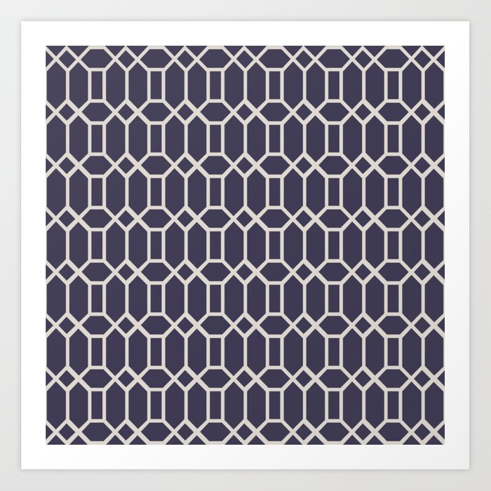 Octagonal Tiles (Patterns Please) Art Print