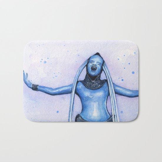 Diva Plavalaguna | Fifth Element Watercolor Art Bath Mat