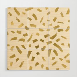 Gold Strokes Wood Wall Art