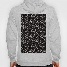 Postmodern Squiggles in Black + White Hoody