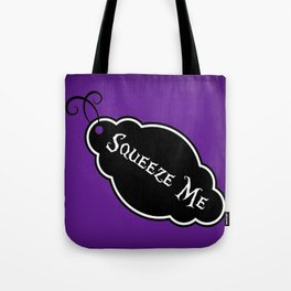 """""""Squeeze Me"""" Alice in Wonderland styled Bottle Tag Design in 'Shy Violets' Tote Bag"""