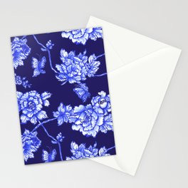 Chinoiserie Foral Navy Stationery Cards