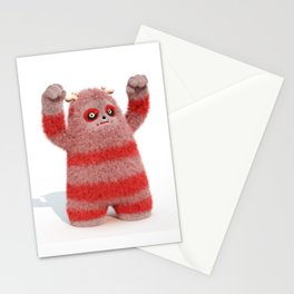 Yeti Attack Stationery Cards
