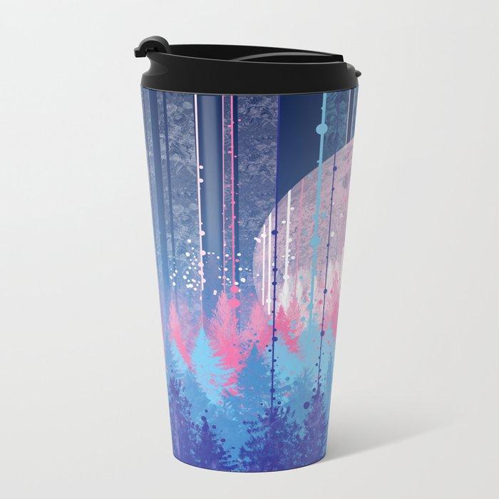 Rainy forest Metal Travel Mug