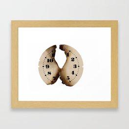 burned clockface Framed Art Print