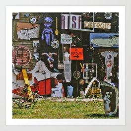 Detroit Heidelberg Project Art Print