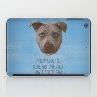 pit bull iPad Cases featuring Pit Bull Print by Roxy Makes Things