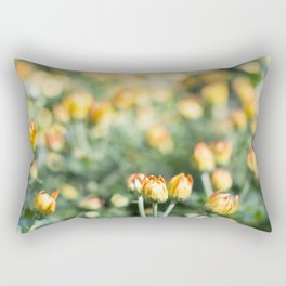 Yellow Flowers at Fall Domes Show Rectangular Pillow