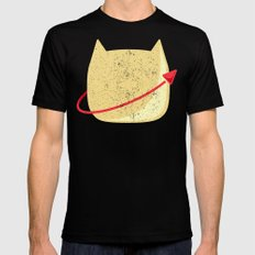 CatStronaut Emblem Black Mens Fitted Tee LARGE
