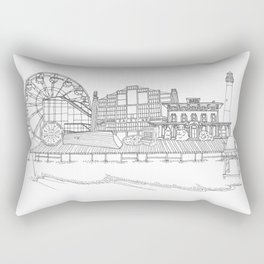 The Jersey Shore by the Downtown Doodler Rectangular Pillow