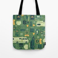 breaking bad Tote Bags featuring Breaking Bad by Tracie Andrews
