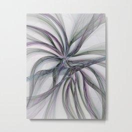 Filigree Motions, Abstract Fractal Art Metal Print