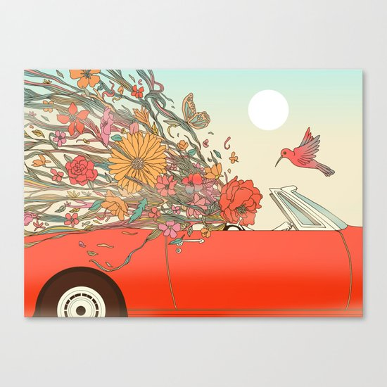 Passing Existence Canvas Print