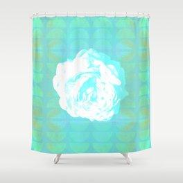 Summer Rose - Botanical Vintage Grunge Pop Art Shower Curtain