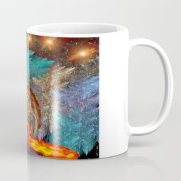 Golden dragon overcoming the icy space Coffee Mug