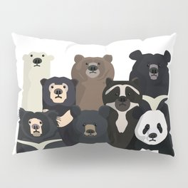 Bear family portrait Pillow Sham