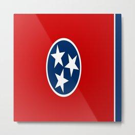 flag of Tennessee-south, america, usa,Tennessean, Volunteer State,memphis,Nashville,jackson,jazz Metal Print