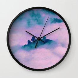 Forest land fog Wall Clock