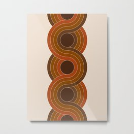 Cocoa Chain Metal Print