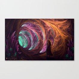 Towards The Light - Alice in Wonderland - White Rabbit - Fractal Canvas Print
