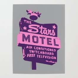Seeing Stars ... Motel ... (Purple/Pink/Grey) Poster