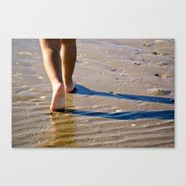 Little Feet on the Shore Canvas Print