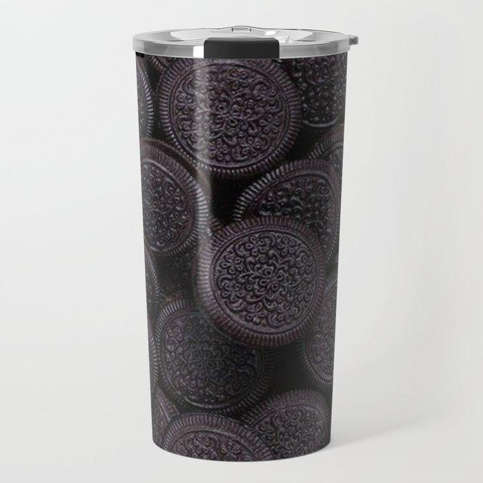 Oreo Cookie Pattern Illustration Travel Mug