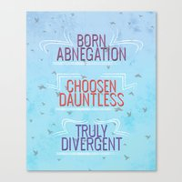 divergent Canvas Prints featuring Truly Divergent by Tiffany 10