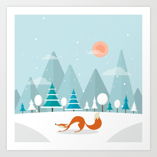 The Fox Is Back Art Print