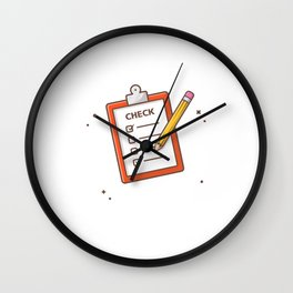 Clipboard Wall Clock