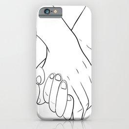 Holding hands,love illustration,white background iPhone Case