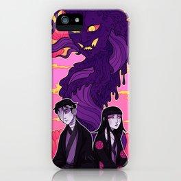 anime horror demon art iPhone Case