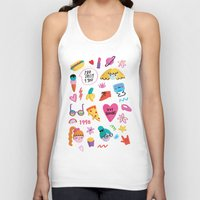 90s Tank Tops featuring 90s by melissa chaib