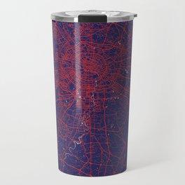 Chengdu, Sichuan, China, Blue, White, City, Map Travel Mug